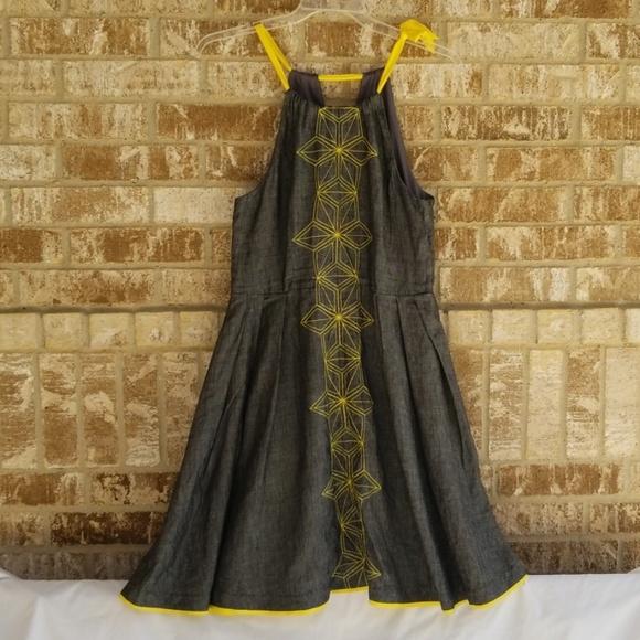 Eva Franco Dresses & Skirts - Eva Franco Anthropologie Blue Yellow Dress Size 10